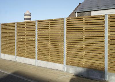 clôture bois et poteaux métalliques 49