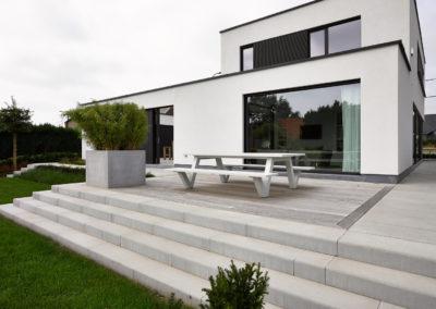 mélange bois pierre terrasse